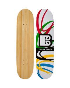 Olympic Slash Graphic Bamboo Skateboard