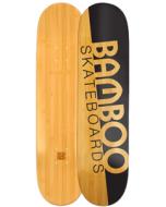 Natural Slash Graphic Bamboo Skateboard