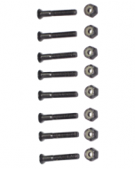 "Black 1.0"" - 1.50"" Hardware - set of 8"