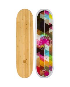 Geometricity Graphic Bamboo Skateboard
