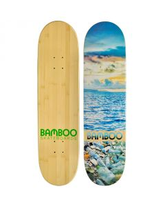 Ocean Disaster Graphic Bamboo Skateboard