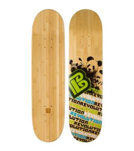 Panda Revolution Graphic Bamboo Skateboard