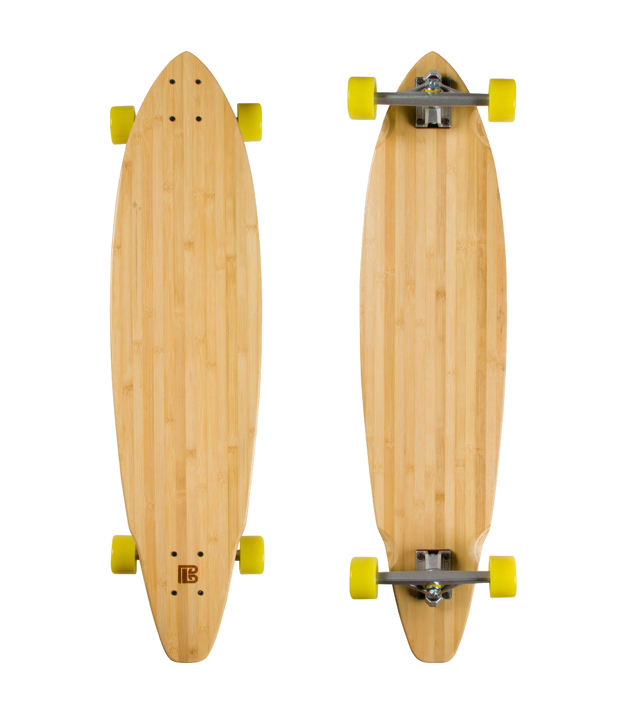 Mustache Ride Graphic Bamboo Skateboard