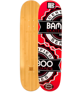 Repeat Graphic Bamboo Skateboard