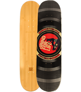 Grind For Life Graphic Bamboo Skateboard