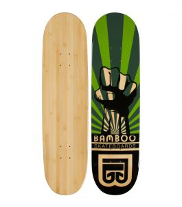 Power Graphic Bamboo Skateboard