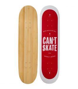 Can't Skate Graphic Bamboo Skateboard