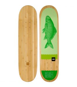 Green Fish Graphic Bamboo Skateboard