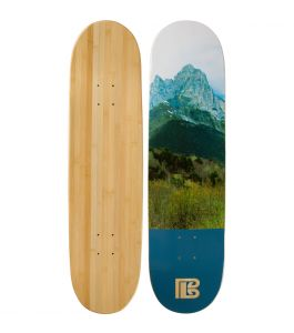 Mountain Graphic Bamboo Skateboard