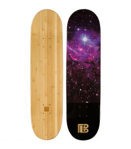 Nebula Graphic Bamboo Skateboard