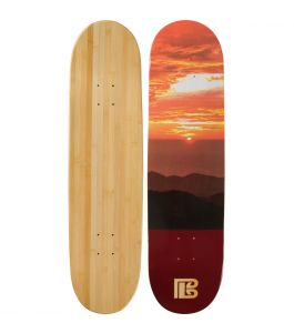 Sunset Graphic Bamboo Skateboard