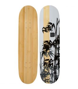 Henon Graphic Bamboo Skateboard