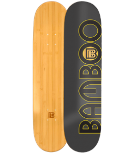 Natural Circle Graphic Bamboo Skateboard