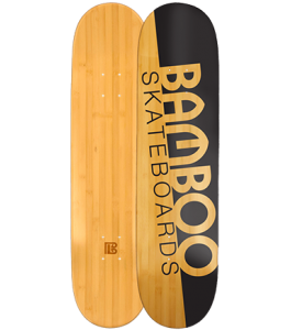 Natural Slash Graphic Bamboo Skateboard