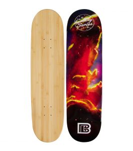 Cosmic Clouds Graphic Bamboo Skateboard