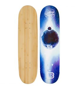 Blue Moon Graphic Bamboo Skateboard