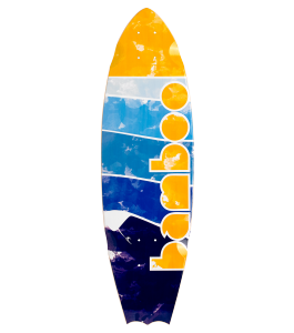 Lined Up Bat Tail Longboard