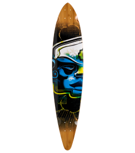 Trurute Mayan Head Pin Tail Longboard