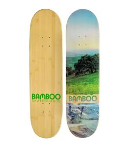 Valley Disaster Graphic Bamboo Skateboard