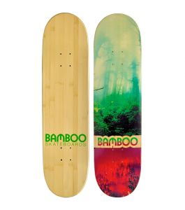 Forest Disaster Graphic Bamboo Skateboard