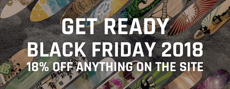 Black Friday is coming. Get 18% off anything on the site.